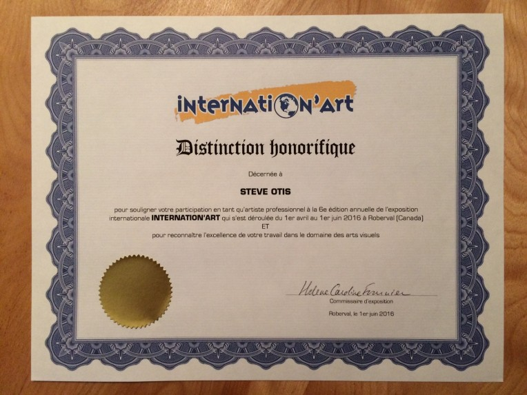 Certificat - InternationART